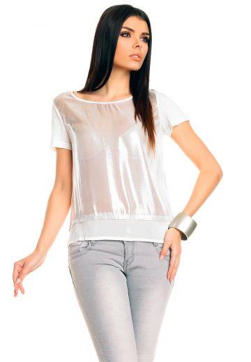 Блуза с лъскав ефект