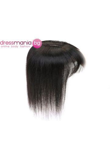 Топер дамски 20-45см с бретон естествена коса