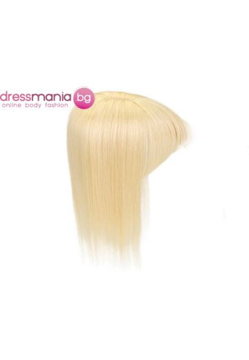 Рус дамски топер 20-45см с бретон естествена коса