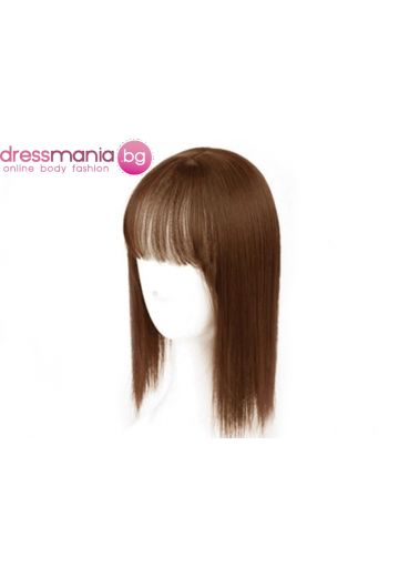 Дамски топер 25-35 см в светлокафяво - изкуствн косъм