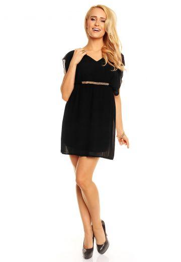 Ефирна туника-рокля в черно