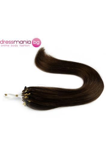 Екстеншън от естествен косъм 50 бр, капси цвят #10