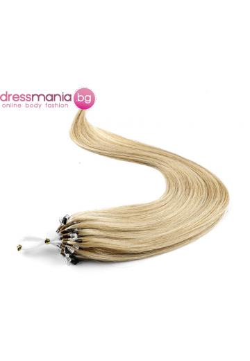 Екстеншън от естествен косъм 50 бр, капси цвят #18
