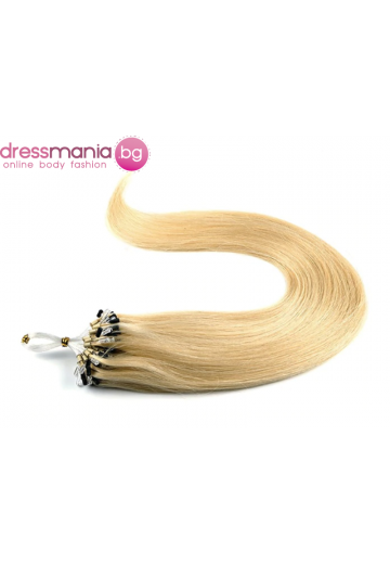 Екстеншън от естествен косъм 50 бр, капси цвят #22