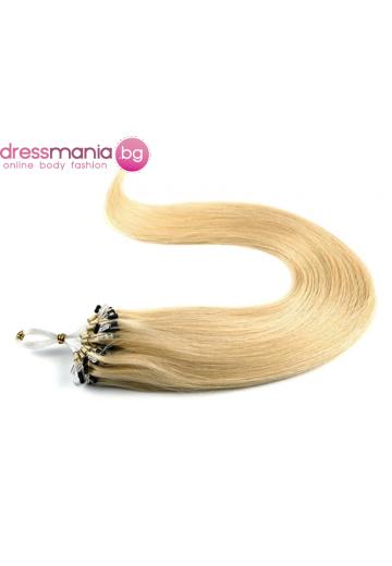 Екстеншън от естествен косъм 50 бр, капси цвят #24