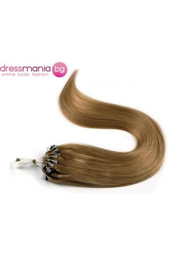 Екстеншън от естествен косъм 50 бр, капси цвят #27
