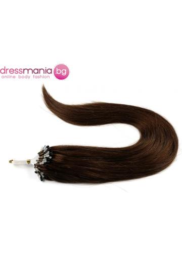 Екстеншън от естествен косъм 50 бр, капси цвят #33