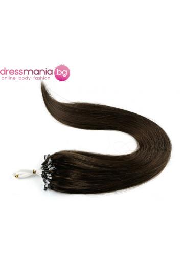 Екстеншън от естествен косъм 50 бр, капси цвят #4