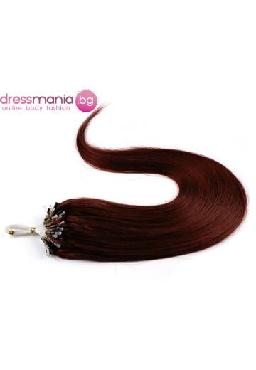 Екстеншън от естествен косъм 50 бр, капси цвят #53