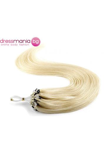 Екстеншън от естествен косъм 50 бр, капси цвят #61