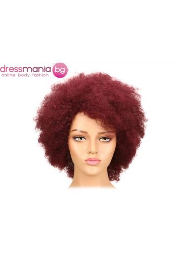 Афро перука от естествен косъм 99J