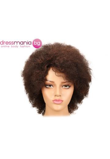 Афро перука от естествен косъм F2-33