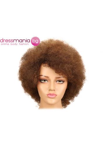Афро перука от естествен косъм P4-30