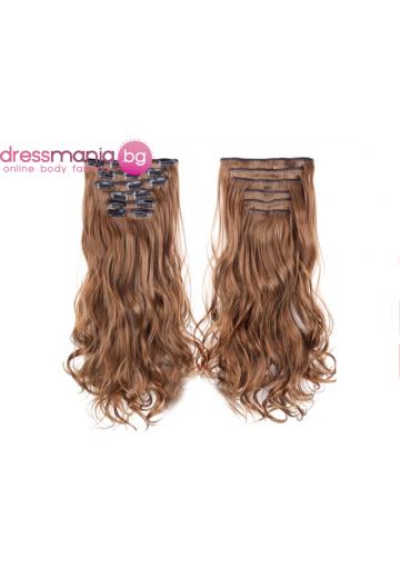 Комплект коса на редове с клипс #12