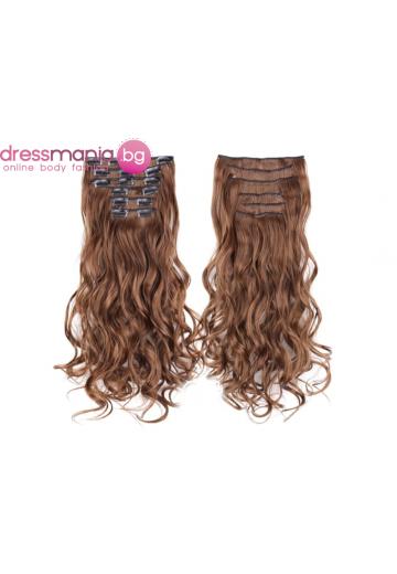 Комплект коса на редове с клипс #6