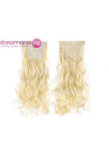 Комплект коса на редове с клипс #613