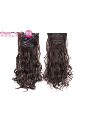 Комплект коса на редове с клипс #8
