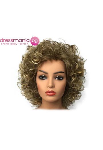 Синтетична перука 35 см в кръгла форма #24B
