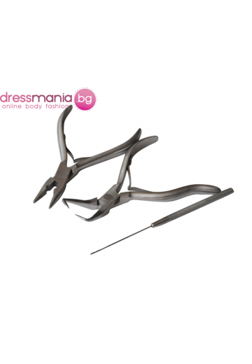 Комплект инструменти за поставяне на екстеншъни коса