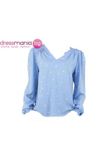 Дамска блуза в синьо и бяло Glo Story