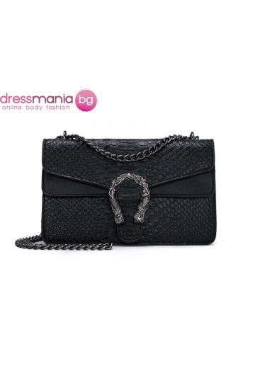 Дамска чанта FANSTY в цвят черен