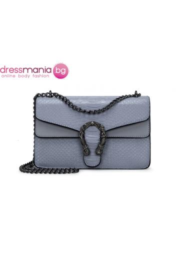 Дамска чанта FANSTY в цвят сивосин