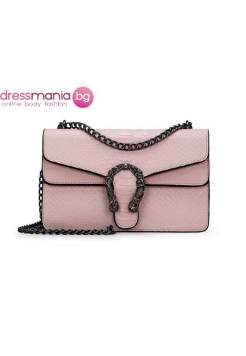 Дамска чанта FANSTY в цвят розов