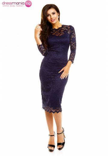 Дантелена рокля Mayaadi в тъмносиньо