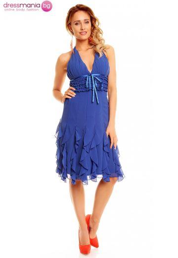 Лятна рокля Mayadii в лазурно синьо