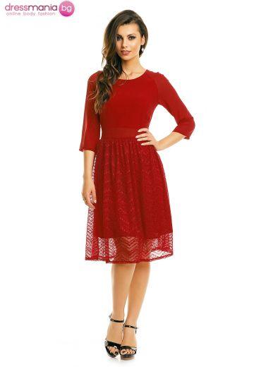 Официална рокля Mayaadi в цвят бордо