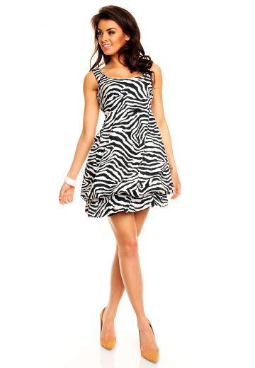 Лятна рокля зебра принт