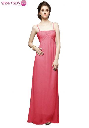 Дълга рокля в цикламено