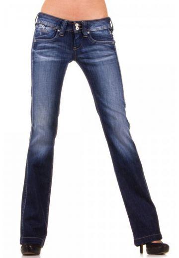 Дамски дънки в тъмно синьо Pepe Jeans протрити