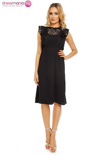 Романтична рокля Elli White в черно