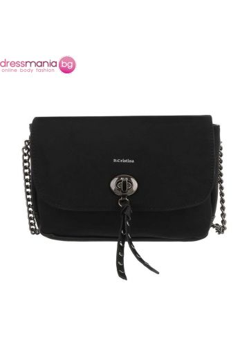 Дамска чанта тип клъч в черно