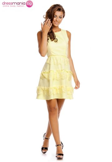 Стилна рокля Jusdepom с свеж цвят