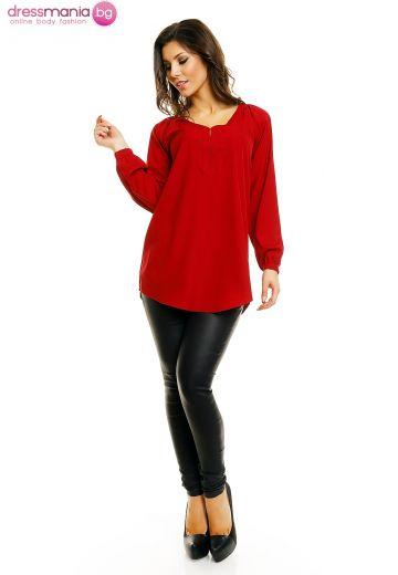 Блуза в цвят бордо Miliana