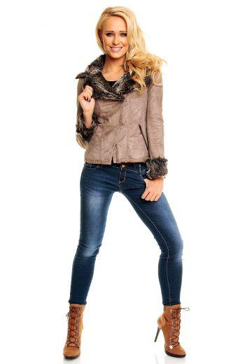 Дамско палто с пух