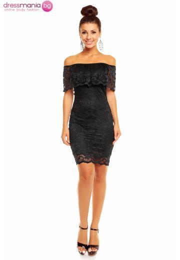 Mayaadi дантелена рокля в черно