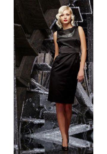 Рокля с апликация от камъни Modena