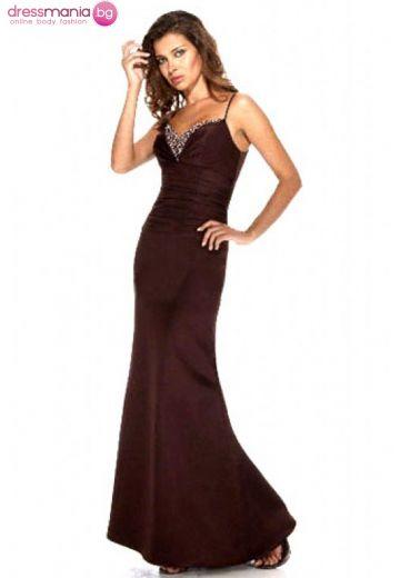 Официална бална рокля в тъмен цвят