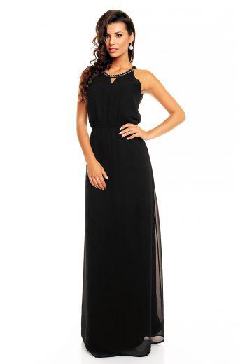 Дълга официална черна рокля Maia Hemera