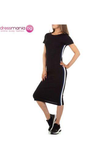 Ежедневна спортня лятна рокля в черно