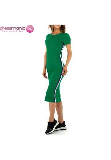 Ежедневна спортня лятна рокля в зелено