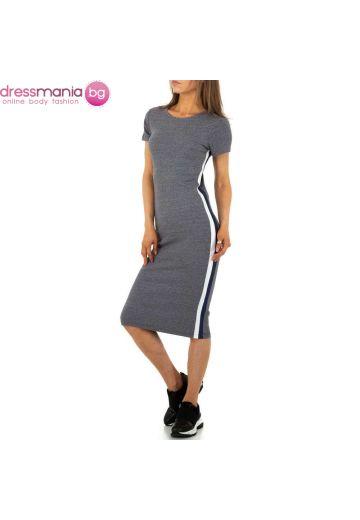 Ежедневна спортня лятна рокля в сиво
