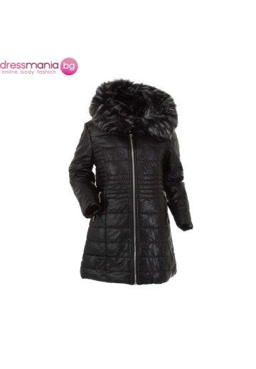 Детско зимно яке за момиче в черно