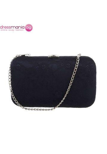 Официална дамска чанта в тъмносиньо