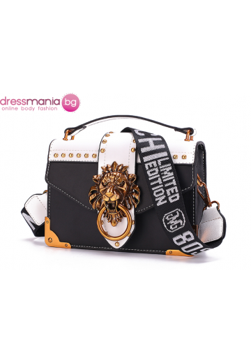 Парти чанта с луксозен дизайн FANSTY черна