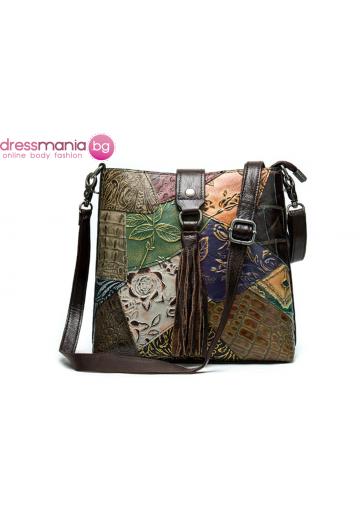 Дамска чанта от естествена кожа WESTAL