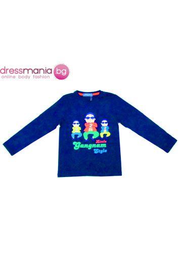 Неонсиня блуза Gangnam style